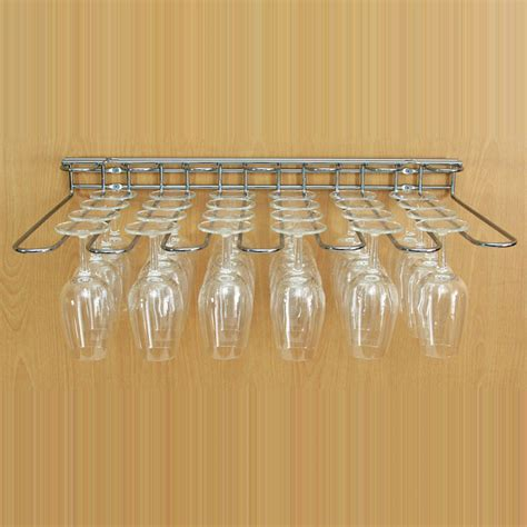Hanging Wine Shelf by Buy The Stainless Steel Wine Glass Hanging Rack Dual Fix