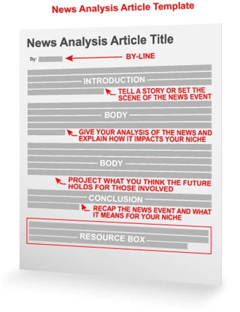 how to write a newspaper article for templates news analysis article template