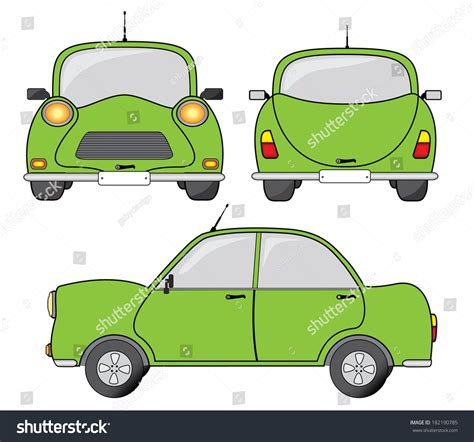 cartoon car back car cartoon front view www imgkid com the image kid