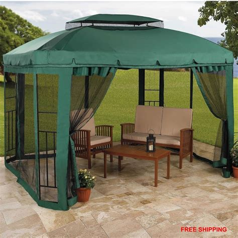Patio Canopy Gazebo Tent Gazebo Patio Canopy Tent Outdoor Furniture Deck Frame Wedding Garden Yard Ebay