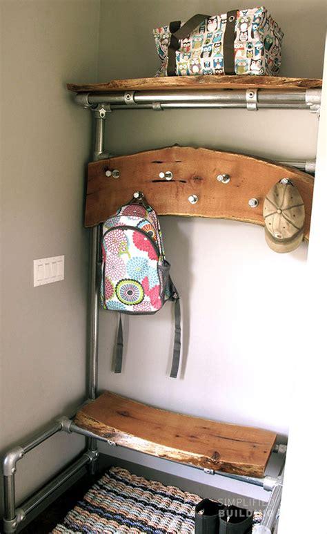 diy coat rack bench diy entryway bench with coat rack simplified building