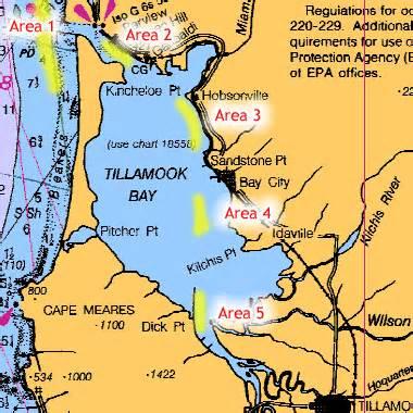 map of tillamook oregon tillamook bay salmon
