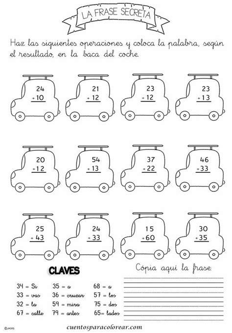 imagenes matematicas para imprimir fichas educativas de problemas matem 225 ticos