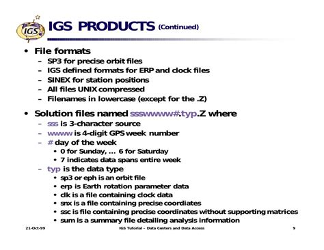 format file igs igs tutorial data centers and data access