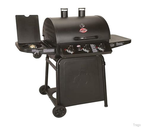 char griller grillin pro gas barbecue with side burner ebay