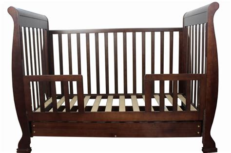 sleigh 3in1 wooden sleigh baby cot crib white walnut with