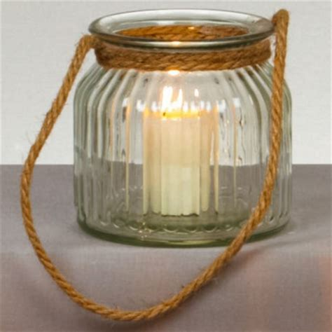 rope candles rope handle candle holder