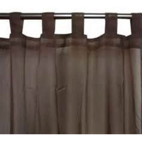 chocolate brown tab top curtains chocolate brown tab voile panel from net curtains direct