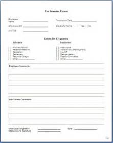 employee exit template word exit form