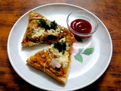 jain pav bhaji recipe pav bhaji pizza recipe by archana s kitchen simple