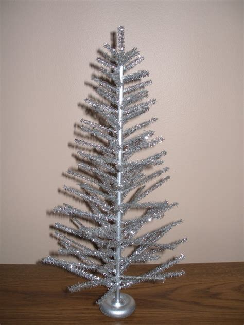 tabletop silver aluminum christmas tree by distantplanet