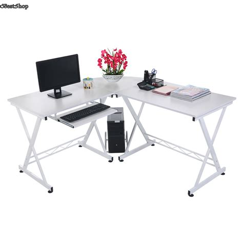 Inspiring L Shaped Computer Desk Maximize Your Space White L Shaped Computer Desk