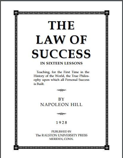self confidence napoleon hill pdf napoleon hill law of success pdf