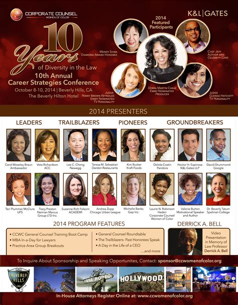 corporate counsel of color 10th annual career strategies conference go rolling out