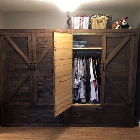 diy armoire closet best 25 pallet closet ideas on pinterest pallet