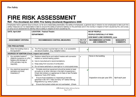 risk assessment template lovely safety risk assessment template pictures