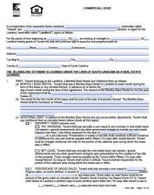 Commercial Office Lease Agreement Template Free South Carolina Commercial Lease Agreement Form Pdf