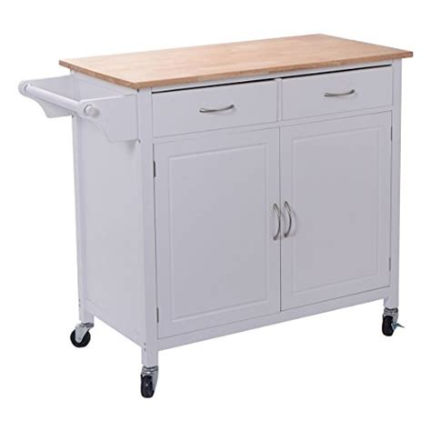 rolling kitchen island cart giantex portable kitchen rolling cart wood top island