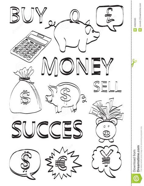 doodle money money finance doodles stock illustration image 49820585
