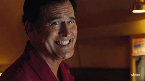 smiling gif tv show smile gif by ash vs evil dead find on giphy