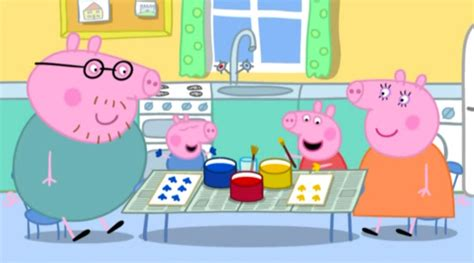 painting peppa pig learning experiences with peppa pig types