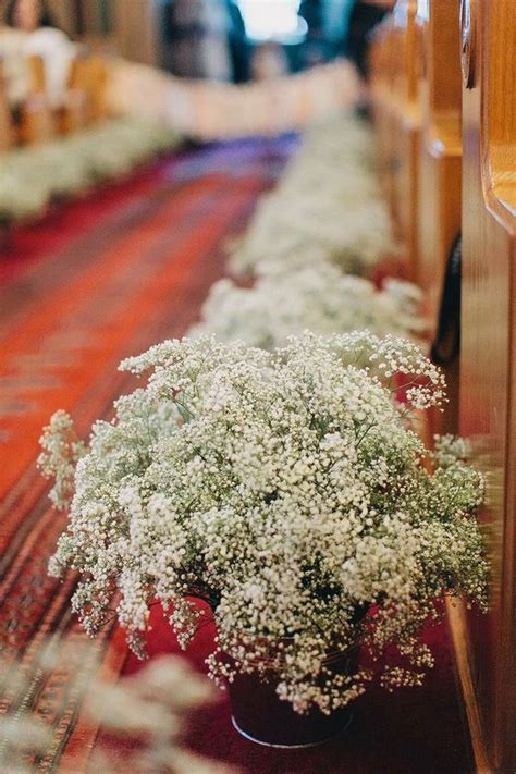 Baby S Breath Wedding Aisle by Church Wedding Baby S Breath Aisle Decor Flower Wedding