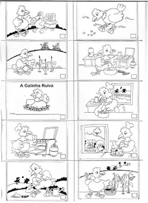 BRINCANDO COM CORES: Sugestões de Atividades - A Galinha Ruiva