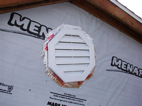 installing a gable vent fan gable vent installation images