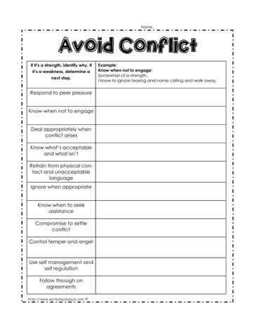 conflict resolution worksheets kidz activities