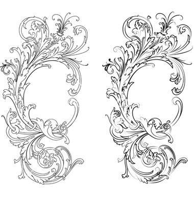 baroque designs baroque patterns vector diy style pinterest baroque