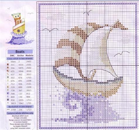imagenes de barcos para bordar esquemas de barcos punto cruz gratis punto de cruz