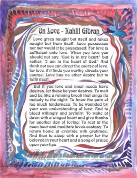 Wedding Blessing Kahlil Gibran by Heartful By Raphaella Vaisseau For Wedding Blessings