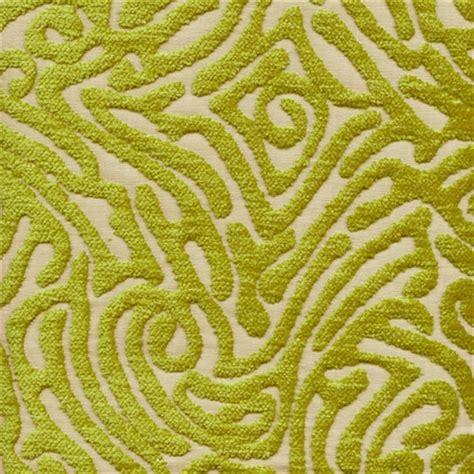 Discount Chenille Upholstery Fabric by Ripple Reed Cut Chenille Maze Design Upholstery Fabric