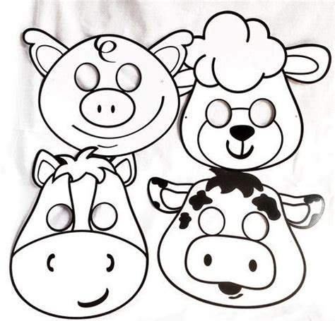 farm animal mask templates 1000 ideas about pet theme preschool on pet