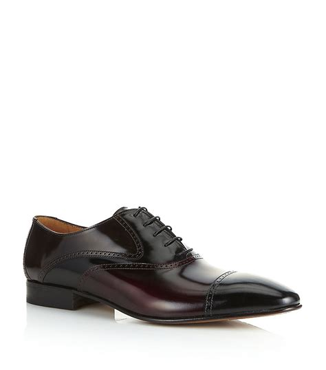 2 tone oxford shoes stemar two tone oxford shoe in black for lyst