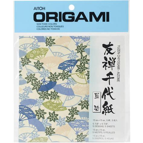 aitoh origami buy aitoh origami paper yuzen chiyogam aizome blue