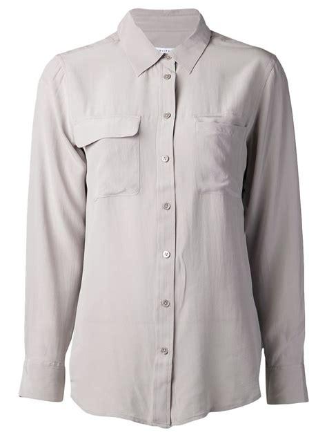 Blouse Lace Grey equipment grey blouse lace henley blouse