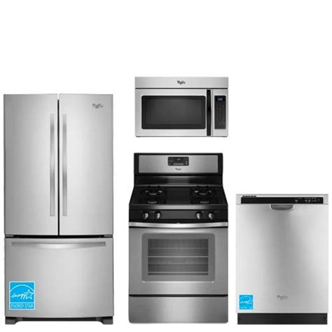 whirlpool kitchen appliance package whirlpool wrf535smbm ss stainless steel complete kitchen