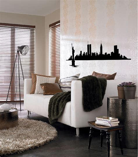 new york city home decor home decor new york city skyline wall decal 14 piece set