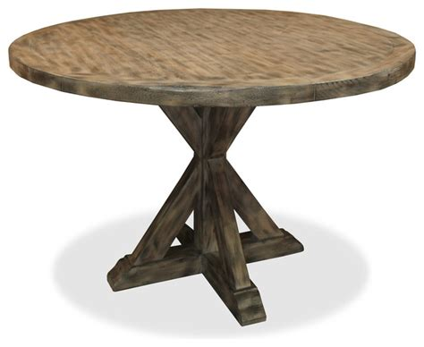 LuvButton Seth Recycled Wooden Round Dining Table   Dining