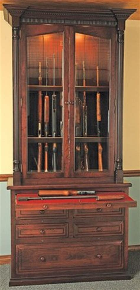 woodloft  gun amish custom gun cabinet