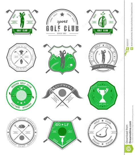 Vector Set Of Logos And Icons Golf Clubs Stock Illustration Image 55223137 Golf Tournament Logo Template