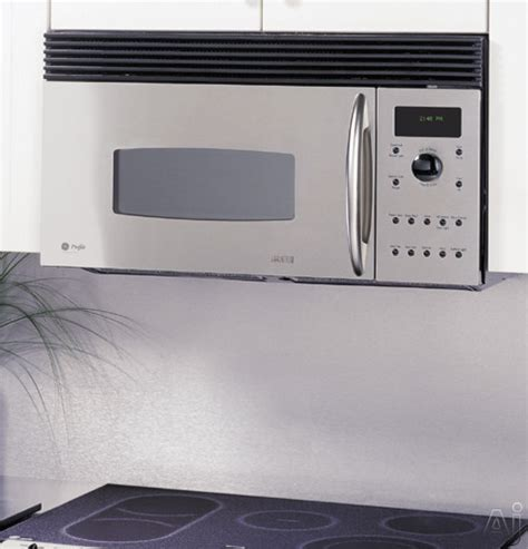 built in microwave ovens with exhaust fan ge sca2001kss 1 2 cu ft over the range advantium