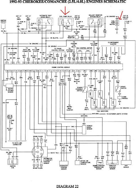 1998 jeep wrangler fuel wiring diagram wiring