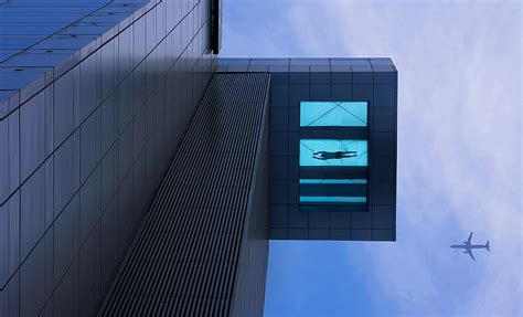 glass bottom pool that s one hell of a deep end the 24th floor swimming