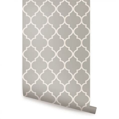 stick on wallpaper moroccan grey peel and stick fabric wallpaper