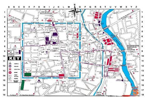 printable walking directions chiang mai walking tour map revisited magic travel blog