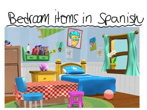 bedroom objects in spanish things in your bedroom spanish savae org
