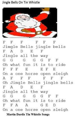 jingle bells tin whistle sheet music irish folk songs