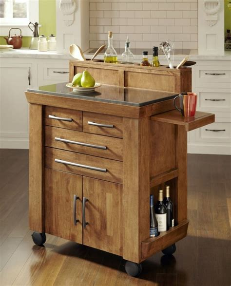 glass top kitchen island furniture natural polished pine wood small portable